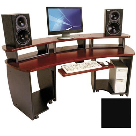omnirax presto 4 studio desk black omnirax omnidesk audio workstation omni b b h photo