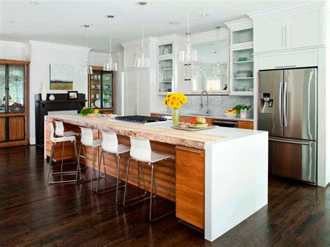 contemporary island kitchen kitchen island breakfast bar pictures ideas from hgtv