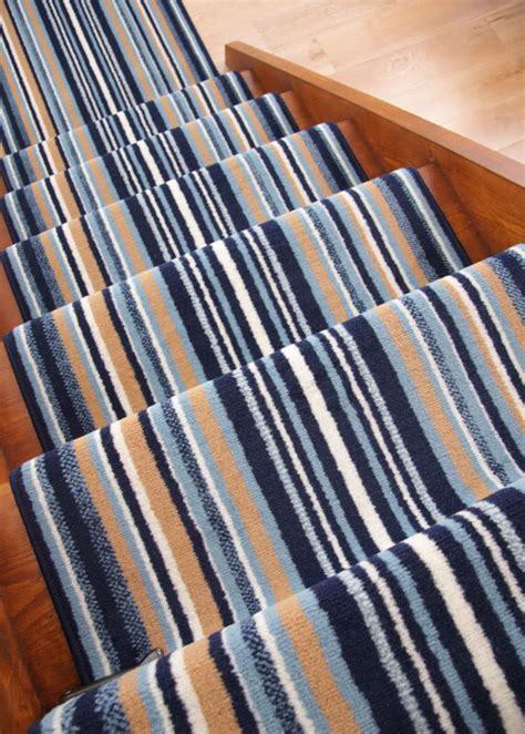 teppich blau gestreift lima navy blue stripe wide narrow stair carpet runner