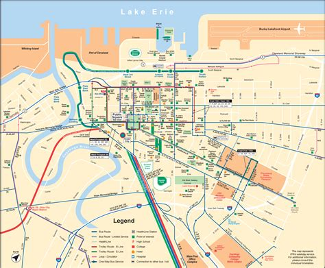 downtown cleveland map map of cleveland ohio pictures to pin on pinsdaddy