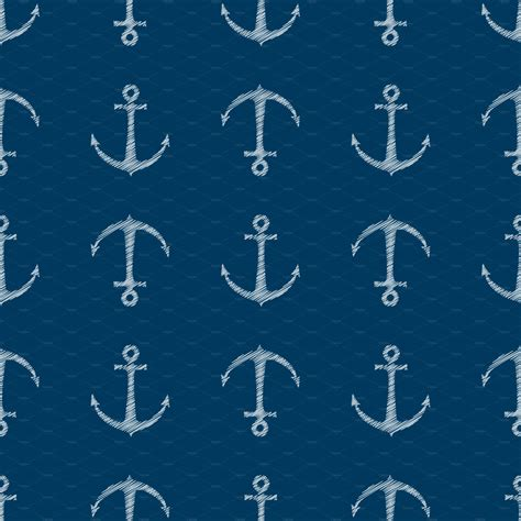 anchor pattern tumblr nautical anchor background