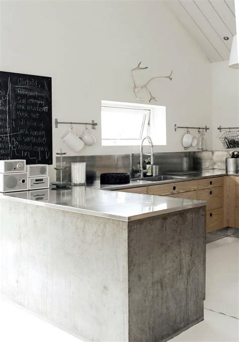Concrete Kitchen Design Industrial Modern Scandinavian Kitchen Scandinavian Kitchens And Design
