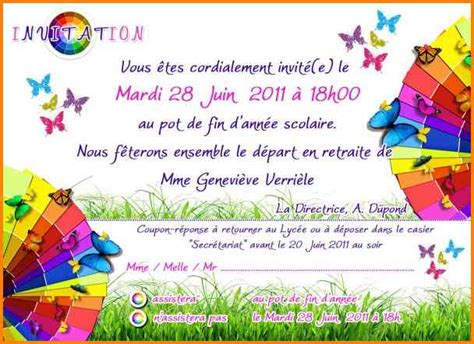 8 invitation pot de d 233 part format lettre