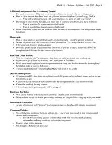 Eng 101 Sfu Outline by 101 Syllabus Fall 2012