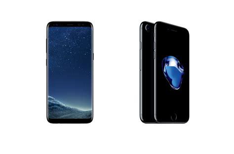 apple x vs samsung s8 samsung galaxy s8 vs apple iphone 7 samsung steps up its game