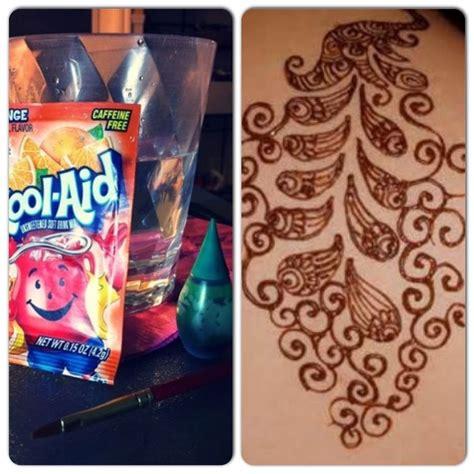 homemade henna tattoo recipe diy kool aid and food coloring 1