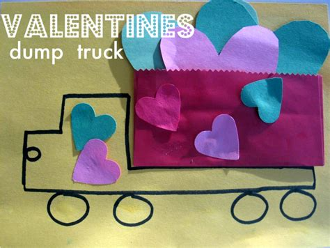Construction Paper Valentines Day Crafts - s day truck craft no time for flash cards