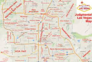 Map Of Las Vegas by Judgmental City Maps Earthly Mission