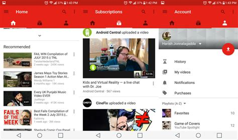 layout android youtube youtube update brings new design video editing tools