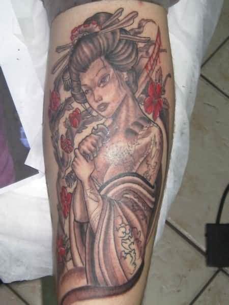 geisha elephant tattoo geisha tattoo japanese geisha with sword n sun design