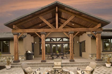 Craftsman Ranch by Cedar Porch Post Ideas Home Design Ideas