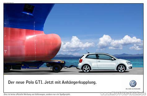Motorrad Polo Werbung gti werbung anh 228 ngerkupplung polo gti vw polo 5
