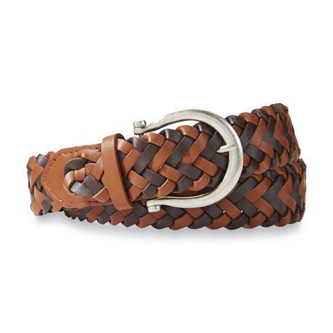 belts belt buckles s black brown braided belt