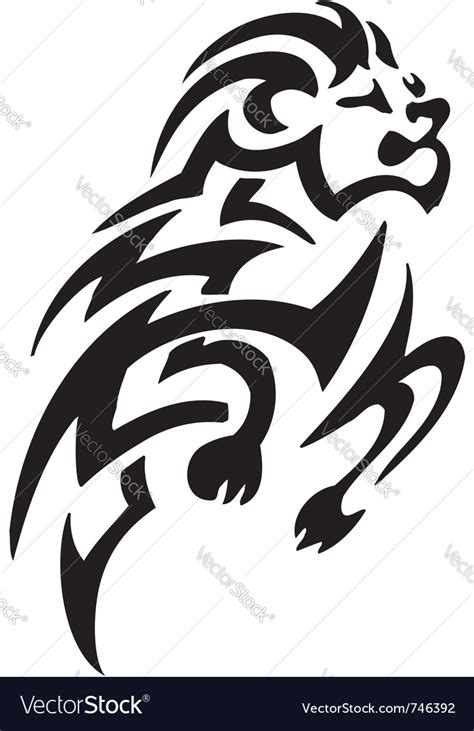 aries sign tribal royalty free vector image vectorstock ram in tribal style royalty free vector image