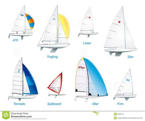 zeilboten types sailing olympic sailboat classes royalty free stock photo