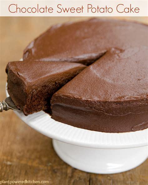 The Sweet Recipe Cake sweet potato chocolate cake with chocolate frosting vegan