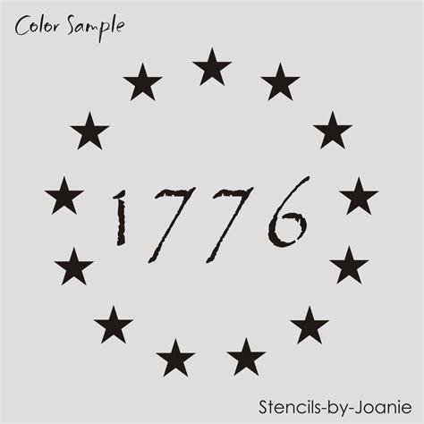printable star stencil for american flag americana stencil 1 quot stars patriotic circle 1776 primitive