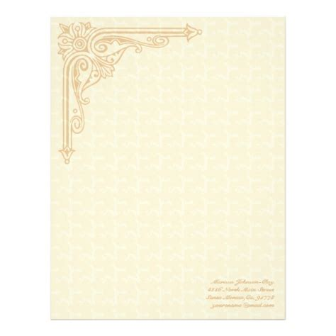 personal stationery template distressed elegance personal large stationery zazzle