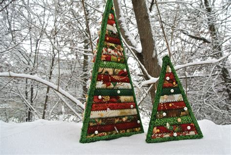 christmas tree pattern patchwork quilted christmas trees