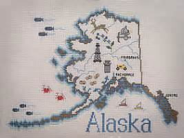 alaskan slers maps cross stitch the rushin tailor
