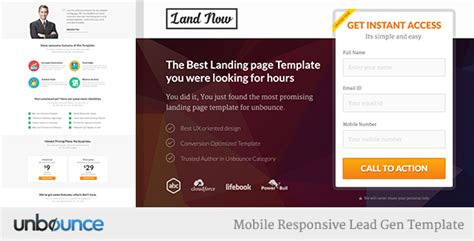 Unbounce Responsive Landing Page Template Landnow By Surjithctly Landing Page Sle Templates