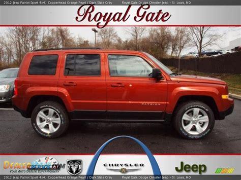 orange jeep patriot 2012 jeep patriot sport 4x4 copperhead orange pearl dark