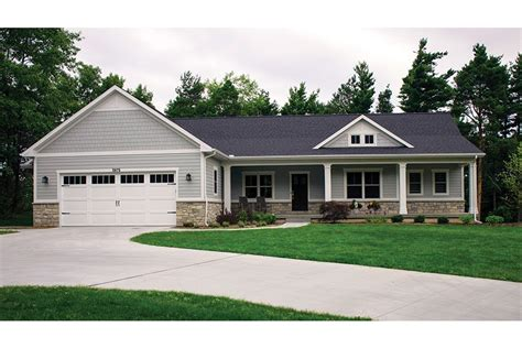 ranch house plans with walkout basement open plan ranch with finished walkout basement hwbdo77020
