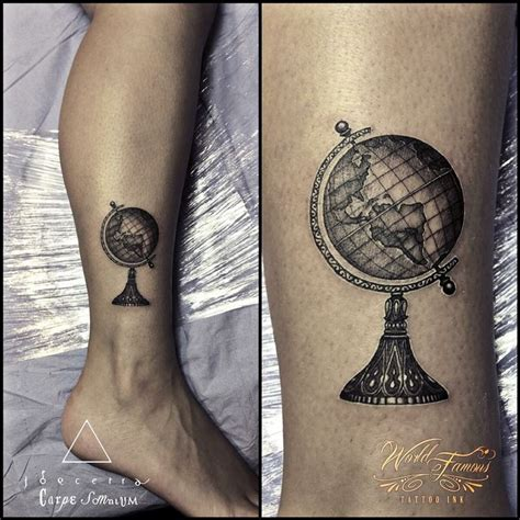 pinterest tattoo globe globe tattoo in black and grey neo traditional style by