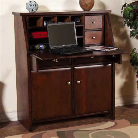 drop leaf secretary desk sunny designs cappuccino 2939ca drop leaf laptop desk
