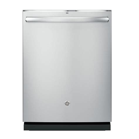 ge 24 in top dishwasher in slate with stainless