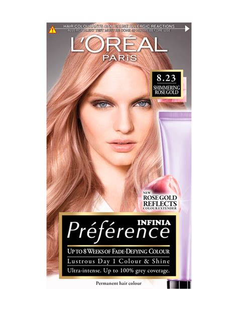 loreal hair dye colors pr 233 f 233 rence infinia 8 23 shimmering gold permanent