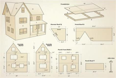 dolls house plans pdf dollhouse illustration1 diy dollhouse pinterest