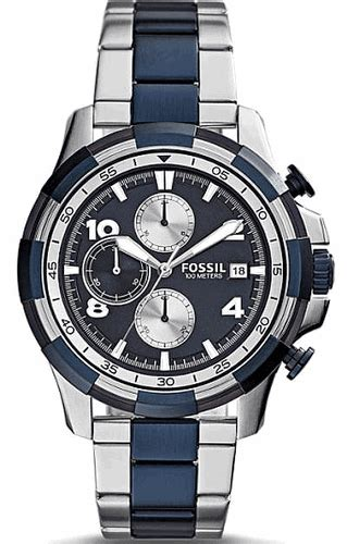 Fossil Fs 5149 s fossil dean chronograph blue fs5149