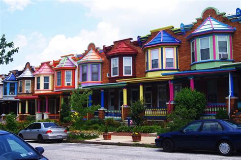 baltimore house charles village baltimore maryland the painted ladies are a row