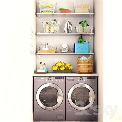 3d models bathroom accessories laundry set