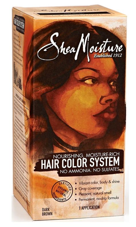 shea moisture hair color system shea moisture certified organic medium brown