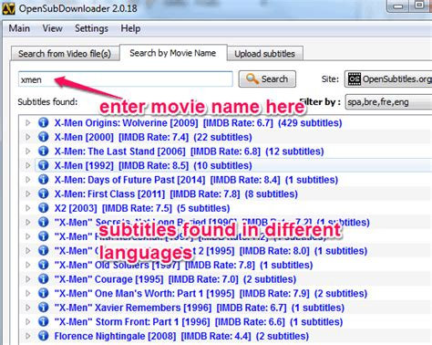 Free Search By Name Automatically Find Subtitles Subtitles To Pc