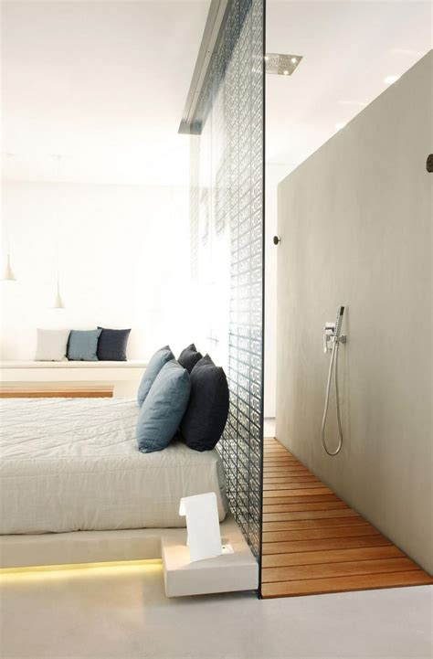 shower bed 45 cool ideas to use space behind the bed shelterness