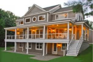 Ranch Style House Plans With Walkout Basement custom lakefront home envision homes