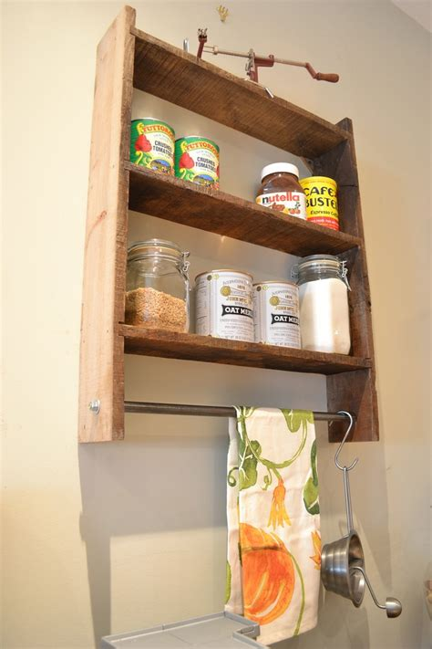 diy barn wood spice rack pot rack wall shelf spice rack pot rack reclaimed wood