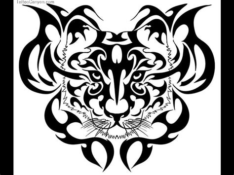 tribal tiger head tattoo black ink tribal and tiger design