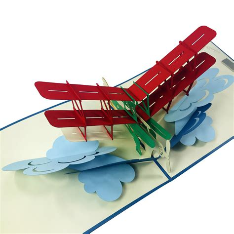 3d Airplane Card Template by Classic Airplane Wow 3d Pop Up Card Wow Pop Up Card