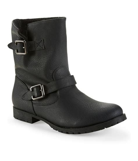 comfortable moto boots aeropostale womens faux shearling moto comfort boots