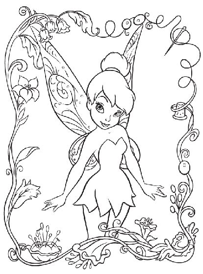 disney fairies tinkerbell coloring page crayola com