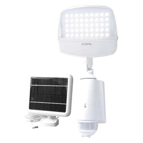 Xepa Solar Powered Outdoor White Led Light With Motion Solar Powered Lights Home Depot