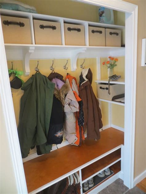 mudroom closet organization ideas coat closet makeover mudroom entry closet ideas