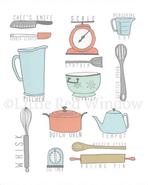 Printable Images Of Kitchen Utensils | new printables april 2014 little red window
