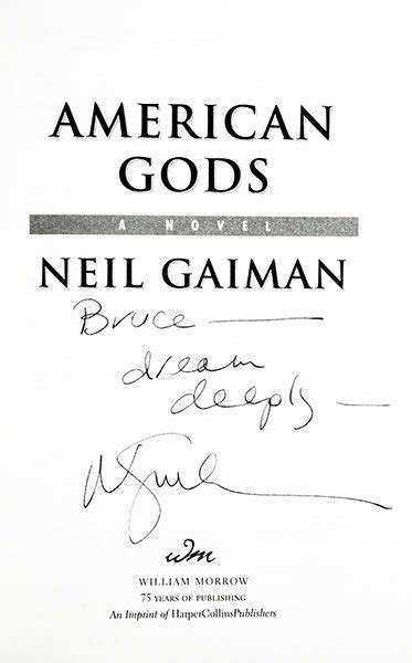 American Gods Neil Gaiman First Edition Signed
