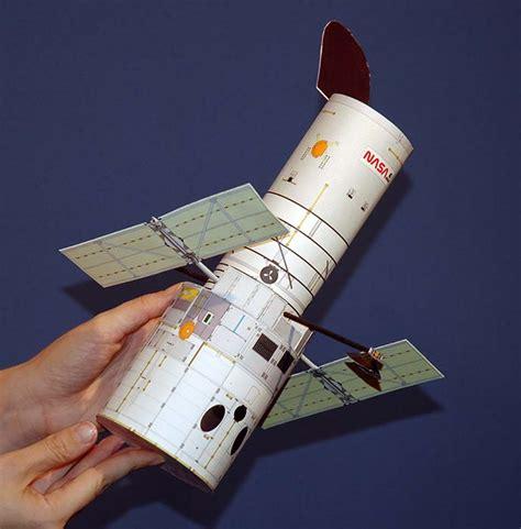 Paper Telescope Craft - hubblesite held hubble completed paper model
