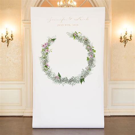 Wedding Backdrop Personalized wreath personalized premium canvas backdrop the